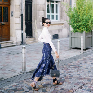WHEN IN PARIS: DENIM SKIRT