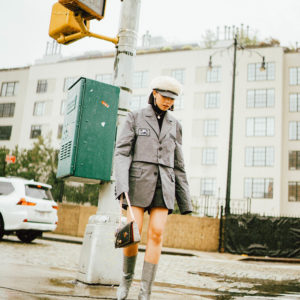 ARMY-INSPIRED TREND FEATURING NEW YORK RAINY DAYS